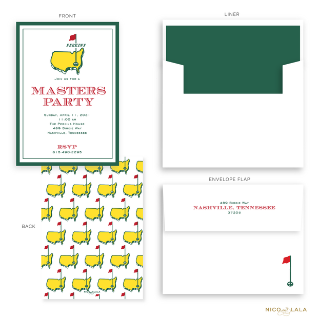 Masters Party Invitations