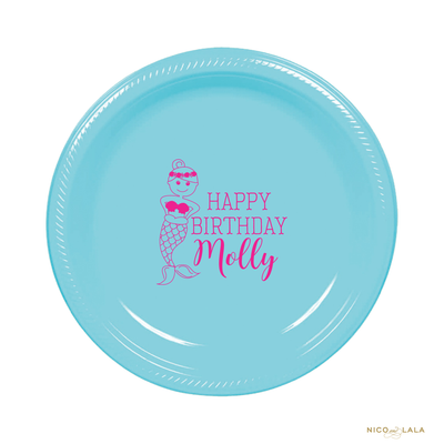 Mermaid Birthday Plates