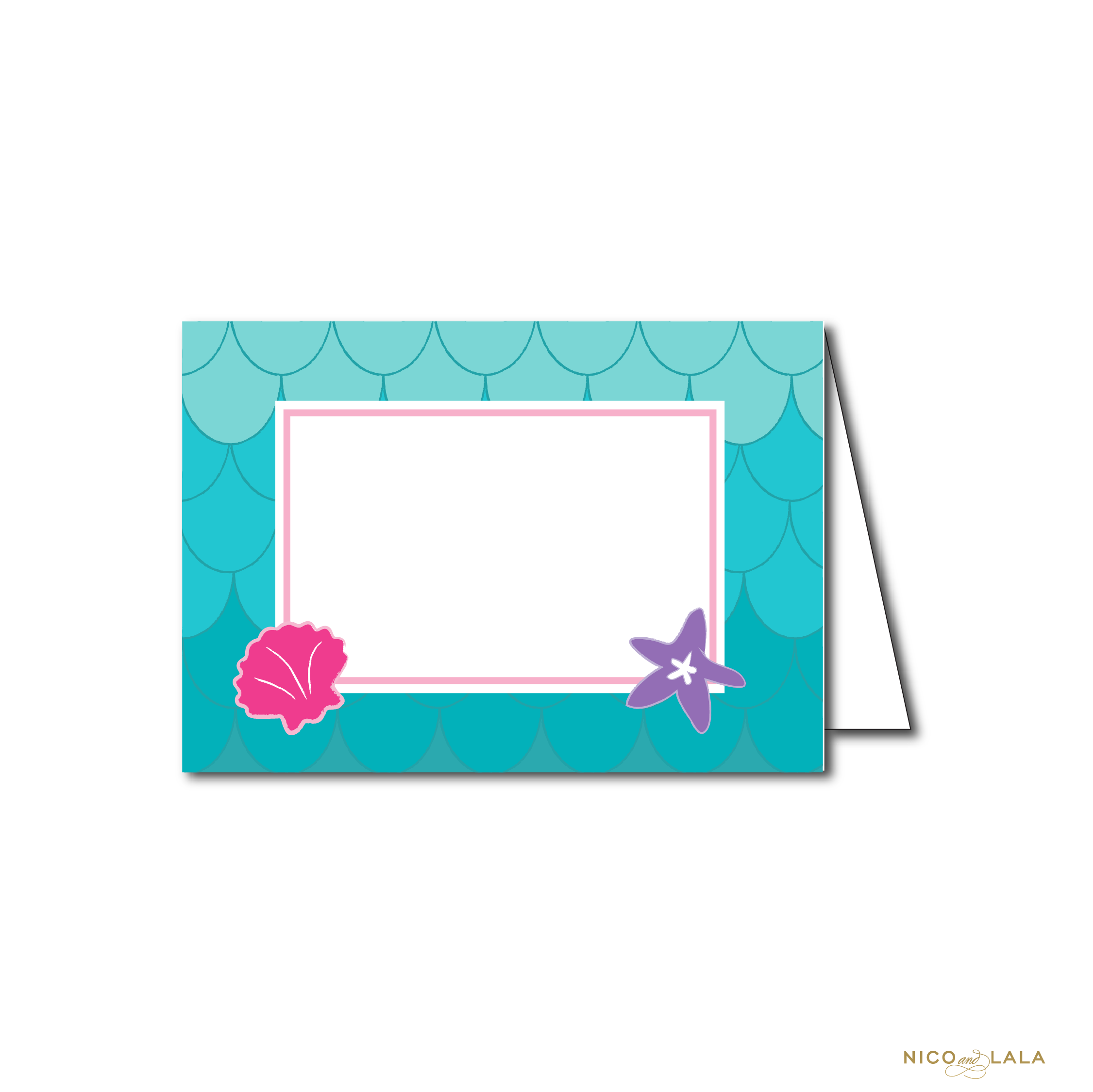 MERMAID BIRTHDAY FOOD CARDS