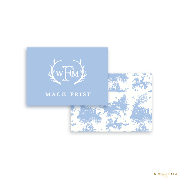 Hunting Toile Calling Cards