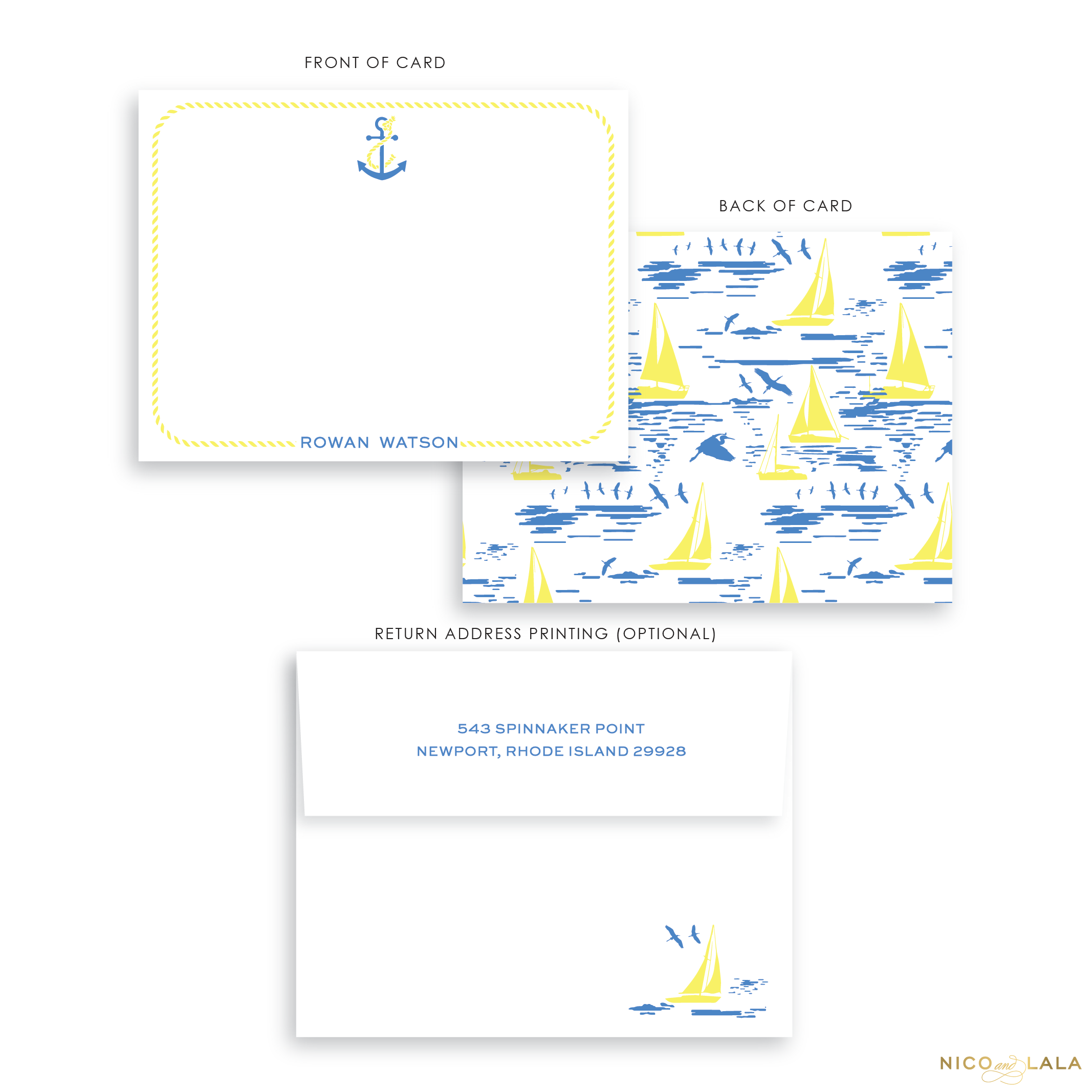 Blue Sailboat Stationery
