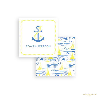 Blue Sailboat Calling Cards