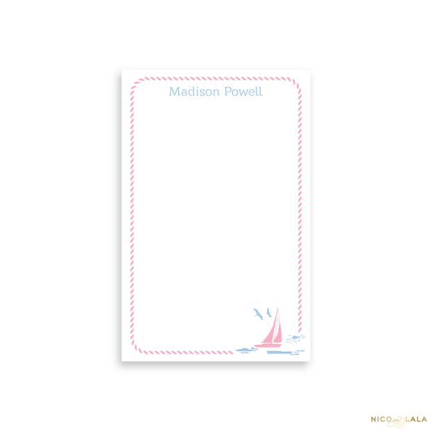 Pink Sailboat Notepad