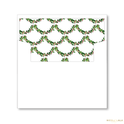 Newlywed Christmas Card Lined Envelopes
