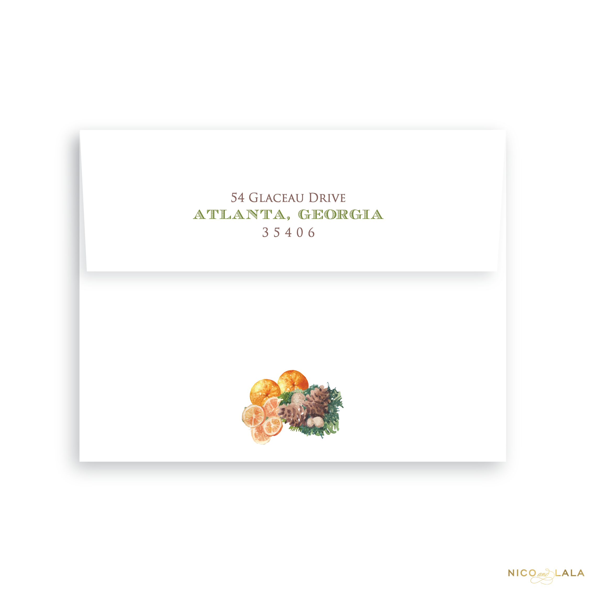 Orange You Glad Christmas Card Return Address Printing