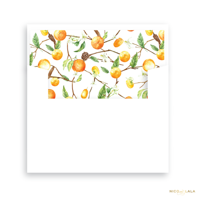 Orange You Glad Thanksgiving Card Lined Envelopes
