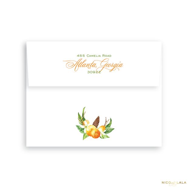 Orange You Glad Thanksgiving Card Return Address Printing