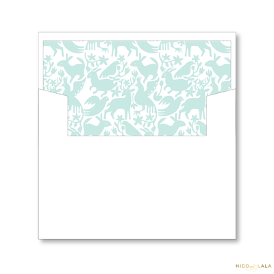 Otomi Christmas Card Lined Envelopes