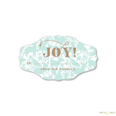 Otomi Christmas Gift Stickers