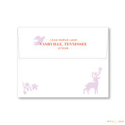 Otomi Christmas Card Return Address Printing