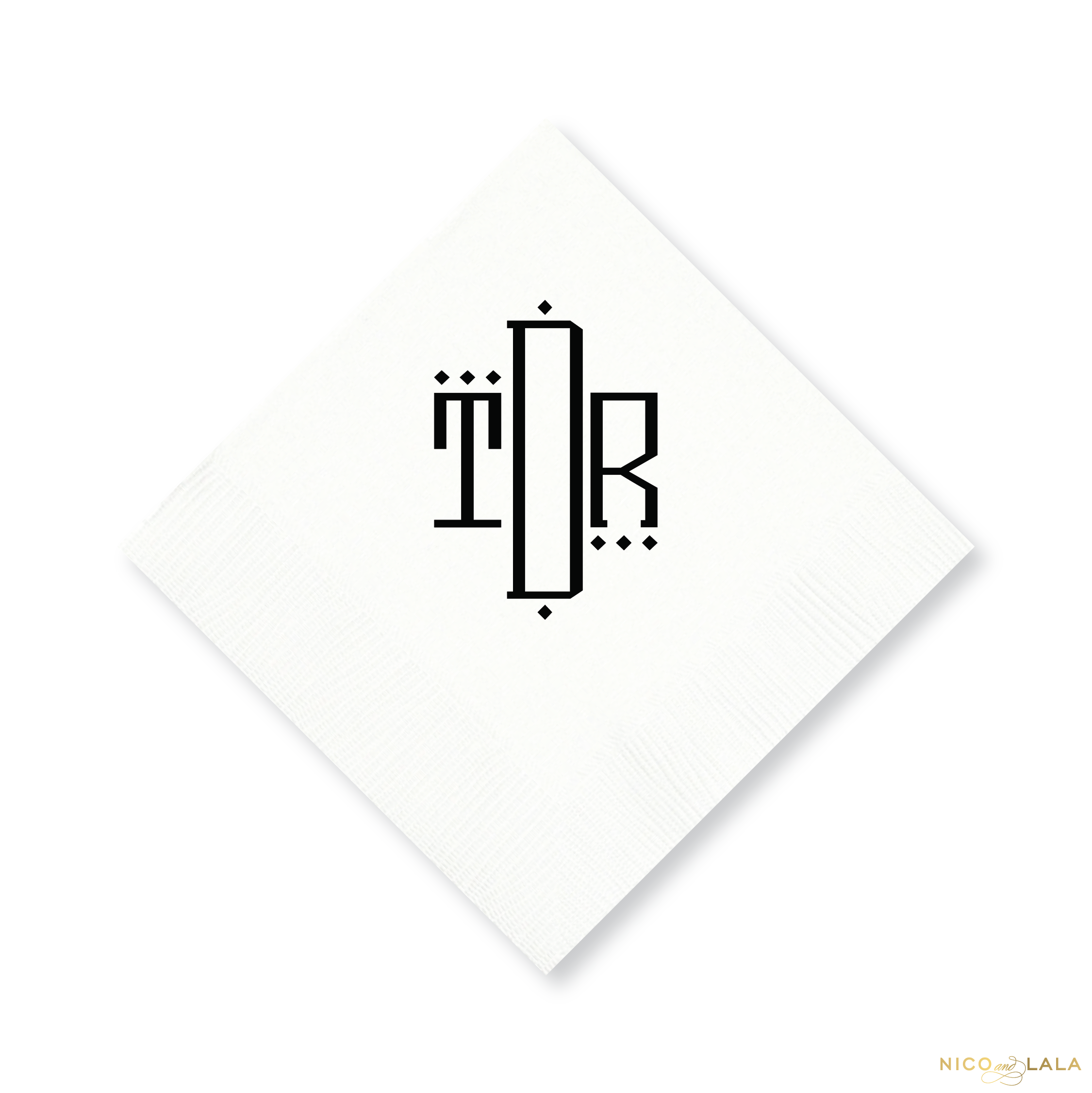 Oxford Monogram Cocktail Napkins