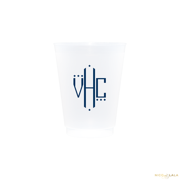 Oxford Monogram Shatterproof Cups