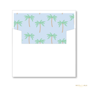 Palm Beach Christmas Card Lined Envelopes