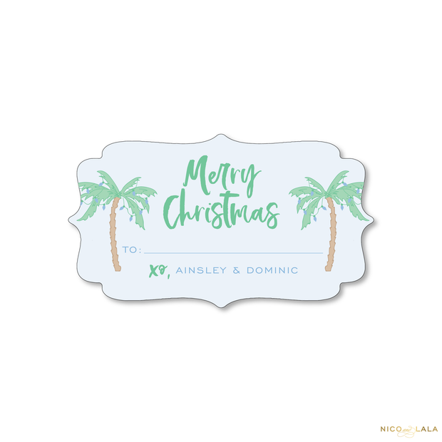 Palm Beach Christmas Gift Stickers