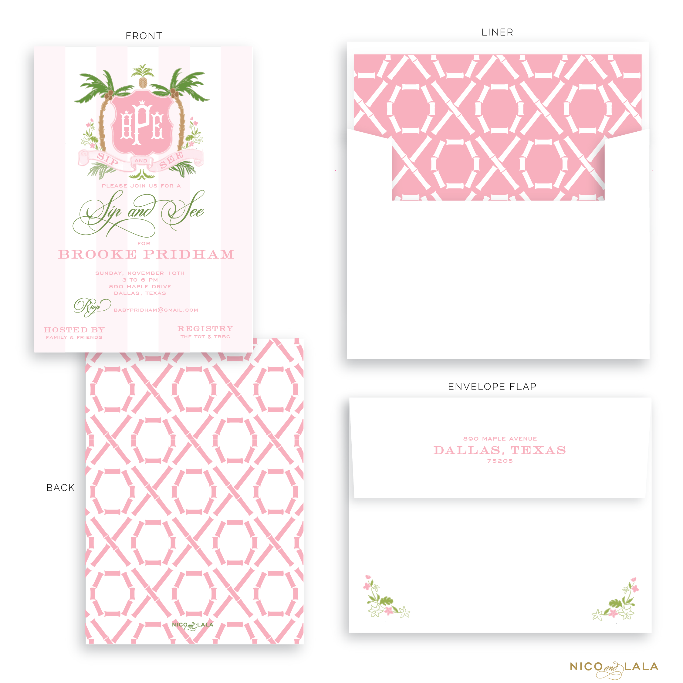 Palm Beach Baby Shower Invitations