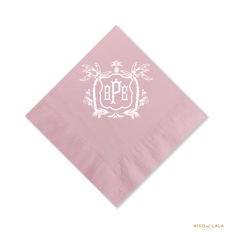 Palm Beach Baby Shower Napkins