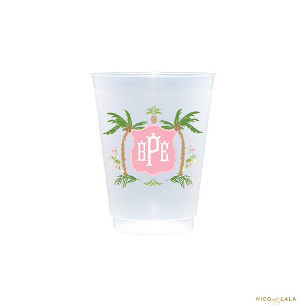 Palm Beach Full Color Shatterproof Cups