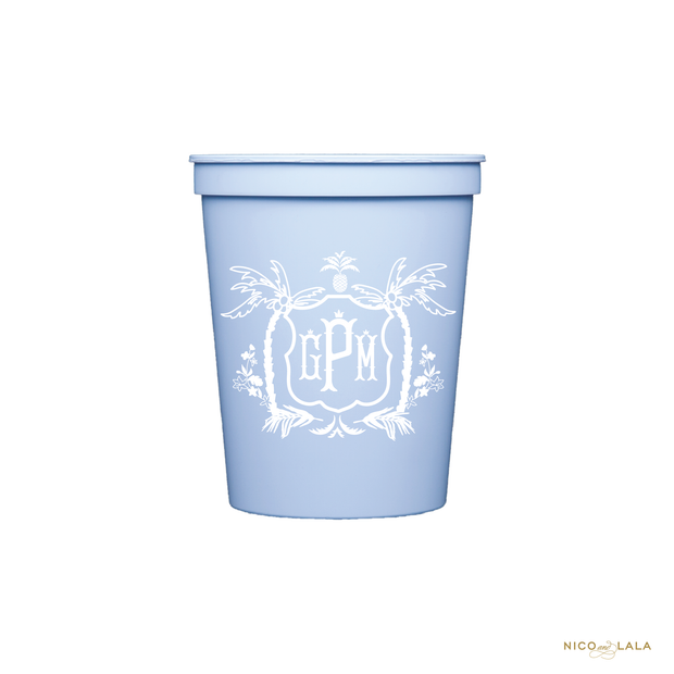 Palm Beach Baby Shower Cups