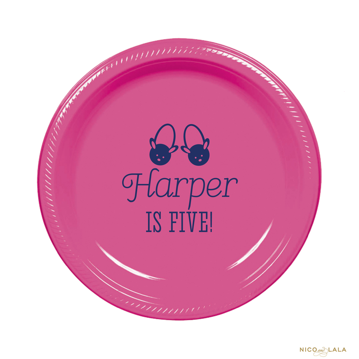 Pancakes and Pajamas Birthday Plates