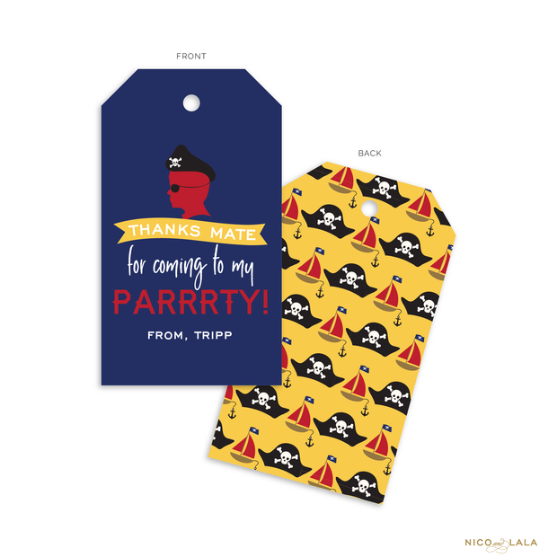 Pirate Birthday Favor Tags