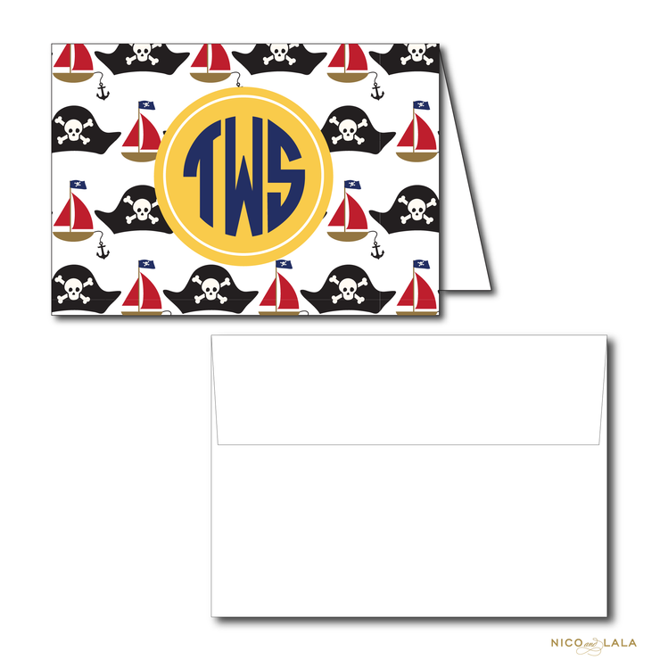 PIRATE BIRTHDAY THANK YOU NOTES