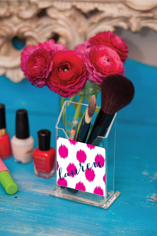 Polka Dot Pencil/Make Up Brush Holder