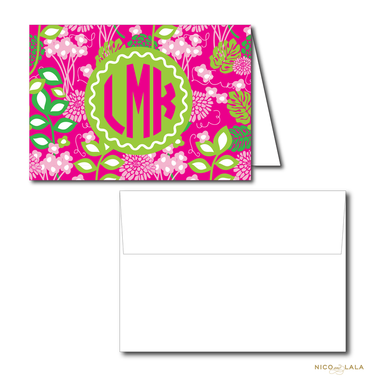Lilly Print Stationery