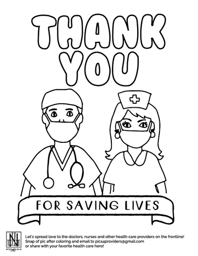 Saving Lives Coloring Sheet (Downloadable PDF)
