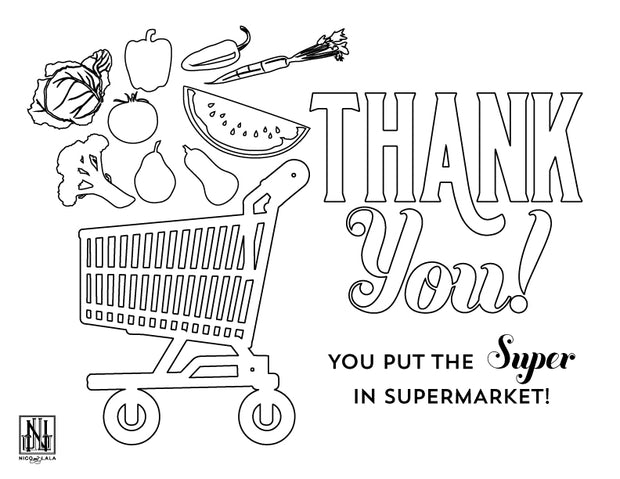 Grocery Store Coloring Sheet (Downloadable PDF)