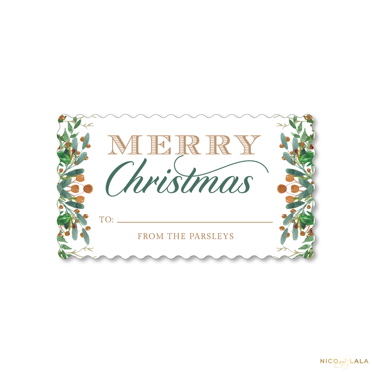 Scallop Joy Christmas Gift Stickers