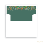 Scallop Joy Christmas Card Lined Envelopes