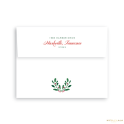 Scallop Joy Christmas Card Return Address Printing