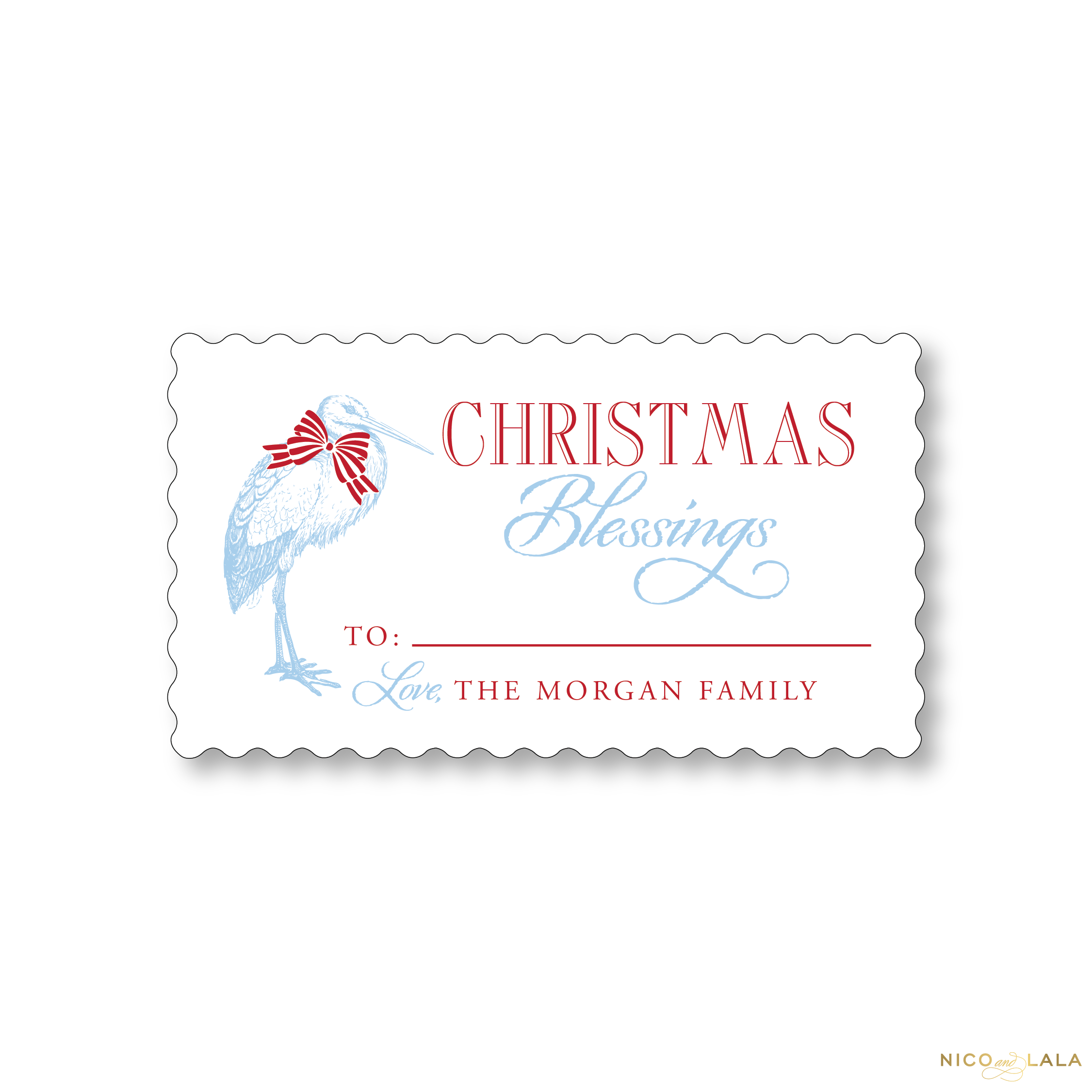 Stork Christmas Gift Stickers