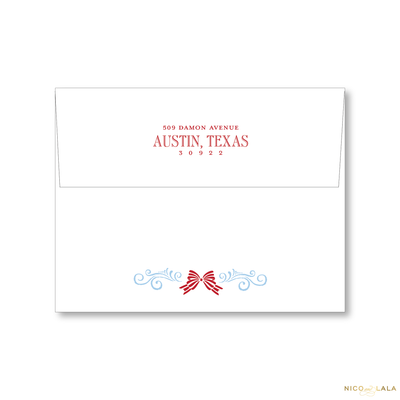 Stork Birth Announcement Christmas Card Return Address Printing