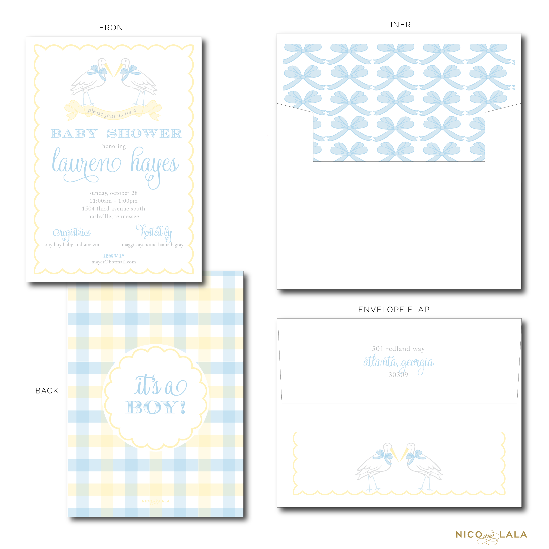 STORK BABY SHOWER INVITATIONS