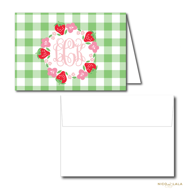 STRAWBERRY BIRTHDAY THANK YOU NOTES