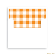 Thankful Gingham Thanksgiving Card Lined Envelopes