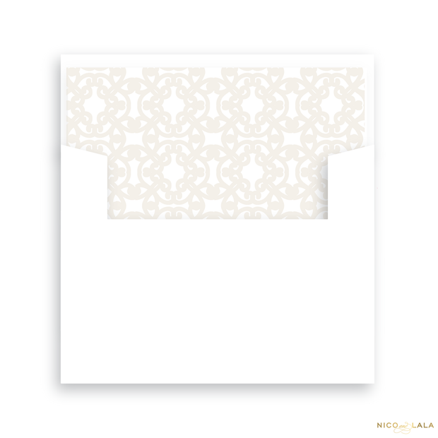 Thankful and Joyful Thanksgiving Card Lined Envelopes