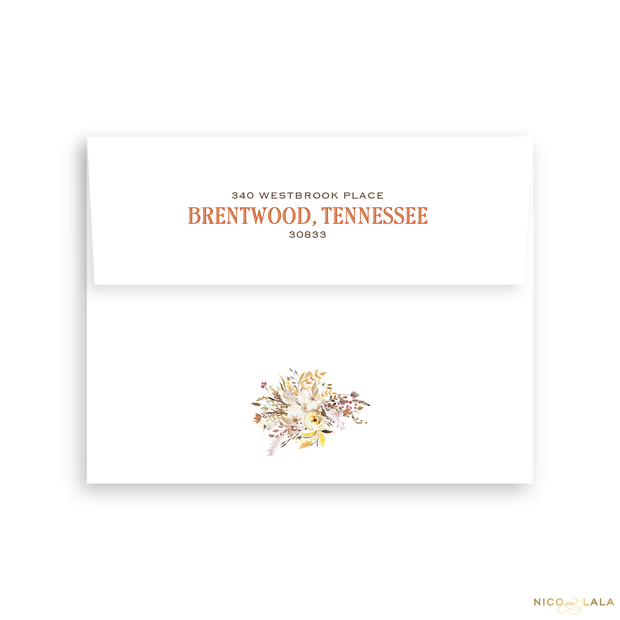 Thankful and Joyful Thanksgiving Card Return Address Printing