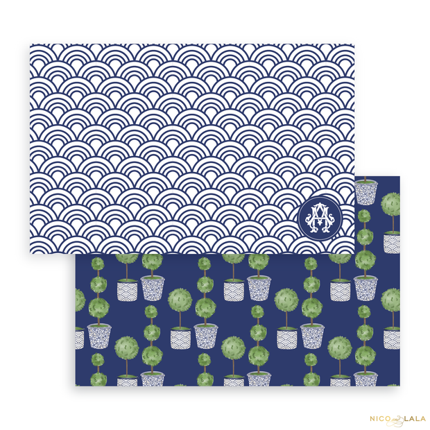 Topiary Placemats, Scallop