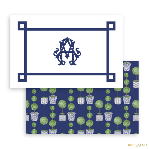 Topiary Placemats, Greek Key