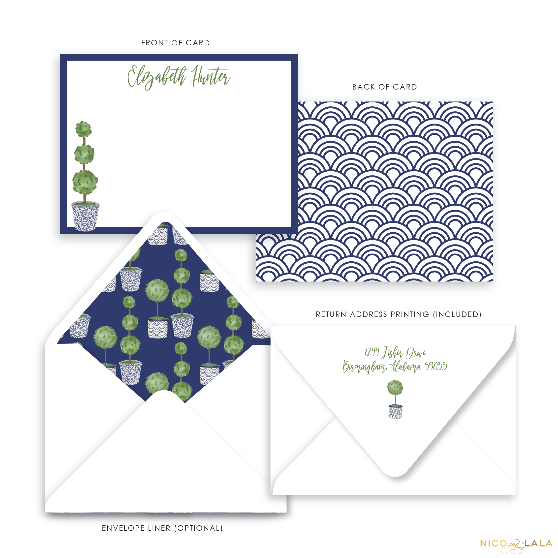 Topiary Stationery