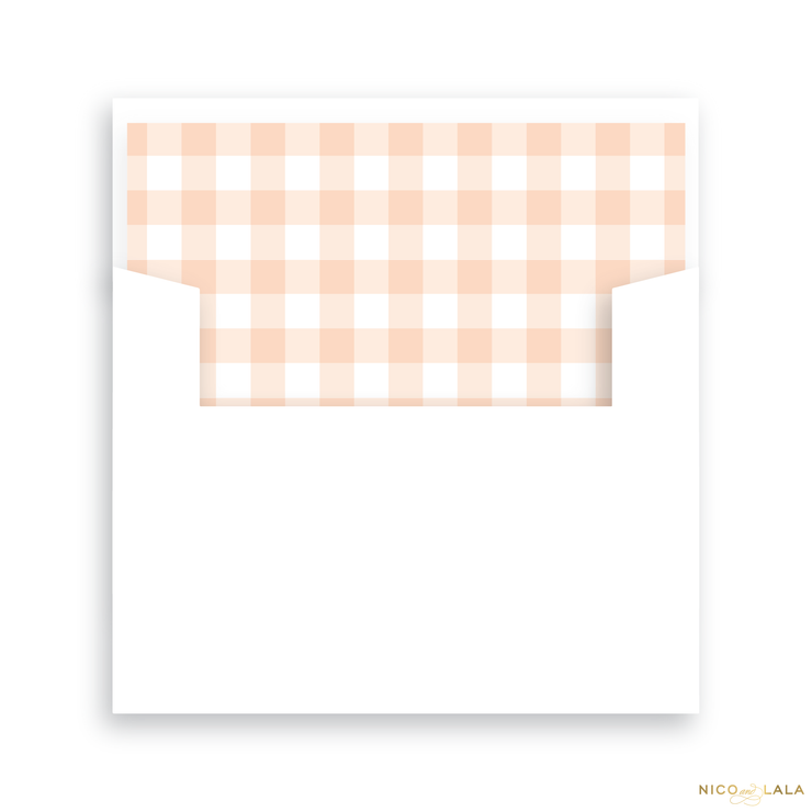 Trumpet Birth Announcement Lined Envelopes
