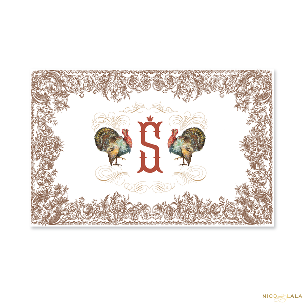 Thanksgiving Tear Off Placemat Pad
