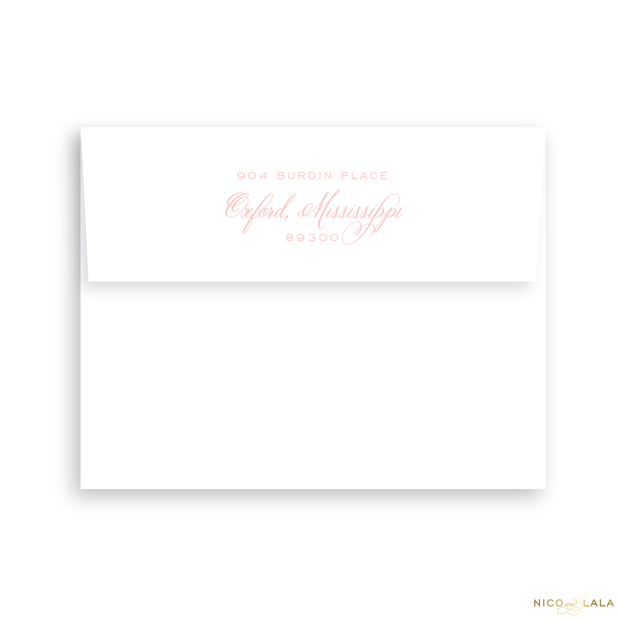 Twin Hearts Birth Announcement Return Address Printing