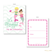 Mermaid Valentine's Cards