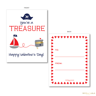 Pirate Valentine's Cards
