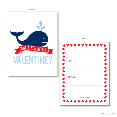 Whale Valentine's Cards