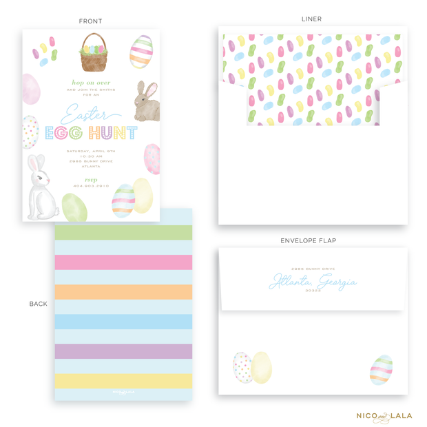 Watercolor Easter Invitations