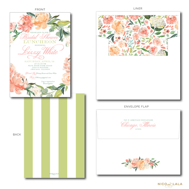 FLORAL WREATH INVITATIONS